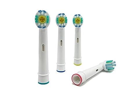 UCA/Pro Bright 3d white (EB18–4) Pack 4x Ersatz Aufsteckbürsten für elektrische Zahnbürsten (El Zahnbürste)