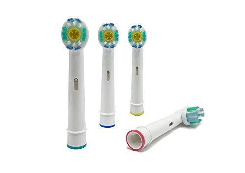 UCA® Ketch–4–4Elektrische Zahnbürste Köpfe Ersatz Kompatibel mit Braun Oral B 3D White/Pro...