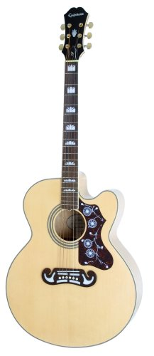 EPIPHONE EJ 200SCE   GUITARRAS ELECTROACUSTICAS  COLOR NATURAL