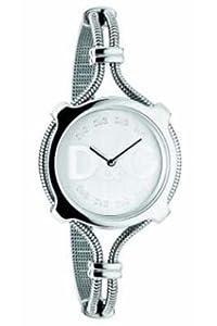 Dolce & Gabbana Lisbon DW0140 - Reloj de mujer de cuarzo con correa de acero inoxidable plateada de Dolce & Gabbana