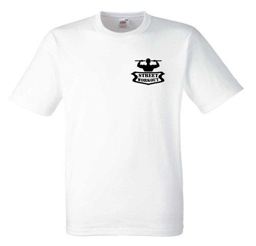 Street Workout T610 Unisex T-Shirt Textilfarbe: weiß, Druckfarbe: schwarz