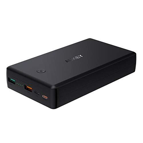 AUKEY Power Delivery Powerbank 26500mAh mit USB C, PD Quick Charge 3.0 Externer Akku für MacBook, iPad, iPhone XS/XS Max/ 8/7/ Plus, iPad, Samsung S9/ S9+ und mehr