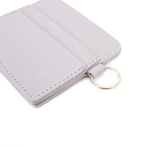 ECOSUSI Clutch Damen Envelope Clutches Abendtasche Elegant Quaste Handtasche mit Kreditkartenhüllen Grau