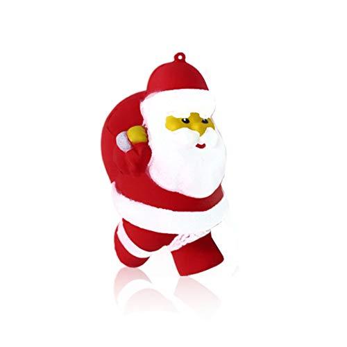 Naisicatar Kreative Weihnachten Spielzeug Soft-Squishy Weihnachts Langsam Rising Simulation Claus Schnee-Mann Jumbo Spielzeug-Party-Geschenke