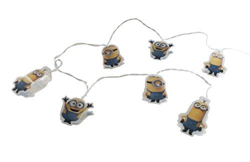 Minions - mini luci led di natale a batteria - bob kevin & stuart - 15 luci led