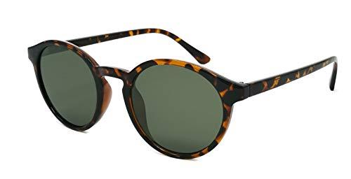 Primetta Runde Retro-Sonnenbrille/Flat Lens Sonnenbrille im Panto-Stil für Damen & Herren F2506259