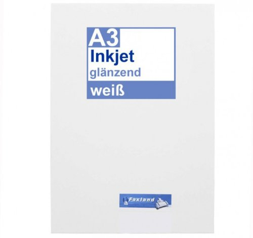 Preisvergleich Produktbild Inkjet Klebefolie 10 x DIN A3 weiß glänzend - Druckerfolie zum bedrucken mit Tinte