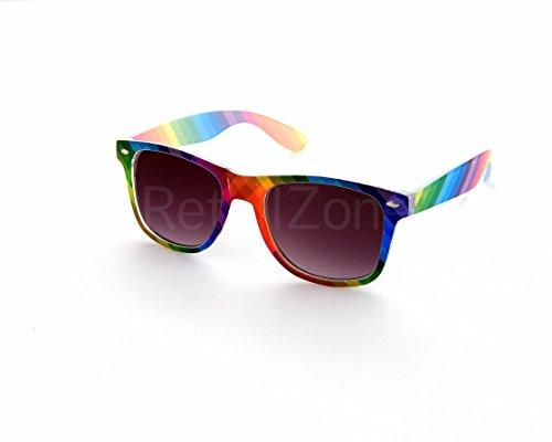Rainbow Fashion Festival Wayfarer Sonnenbrille Retro 80S Herren Damen