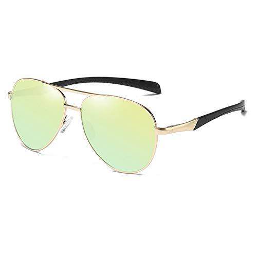 YLNJYJ Sonnenbrillen Ovale Sonnenbrille Polarisierte Mann Sonnenbrille Männer Hohe Qualität Metall Brillengestell Mode Gläser