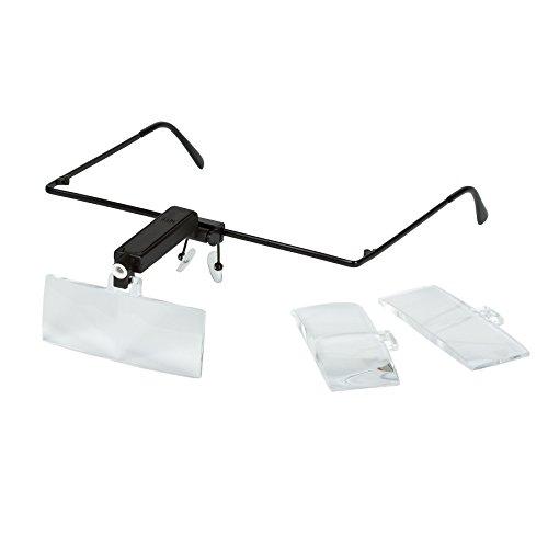 GOLDIFLORA OPTICS - MG 9157-4-OZ - Lupenbrille mit LED Licht - 6x fache Vergrösserung