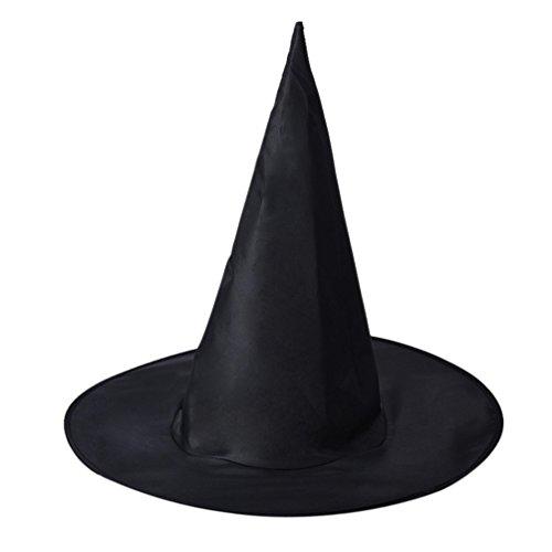 Malloom 1pcs adulto mujer negro sombrero de bruja para el accesorio del traje de Halloween