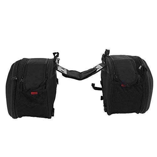 Borse laterali per moto,Set borse laterali da moto con chiusura lampo borsa per portapacchi,Set di 2