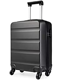 Kono Cabin Luggage Hard Shell ABS Carry-on Suitcase with 4 Spinner Wheels and Dial Combination Lock