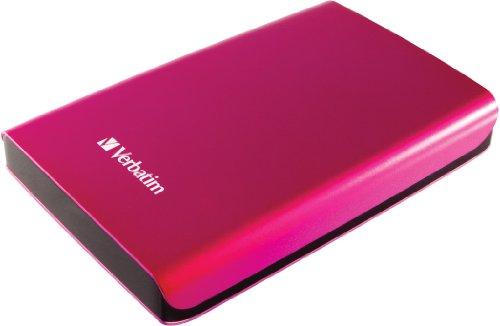 Verbatim Store 'n' Go 1TB externe Festplatte (6,4 cm (2,5 Zoll), 5400rpm, 8MB Cache, USB 3.0) hot pink