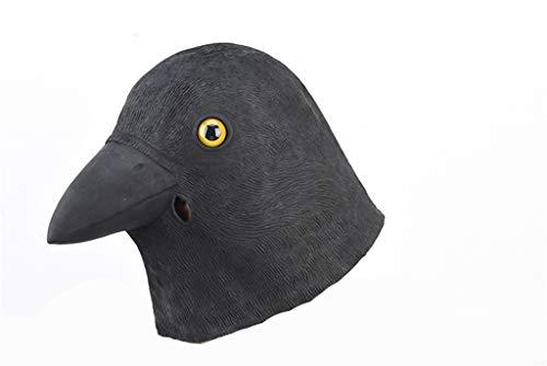 Taube Maske Kostüm - LYLLB-festival items Latex Schwarz Taube Maske Kopfbedeckung Halloween Party Kostüm Dekorative Maske