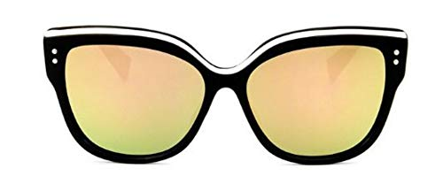 WDDYYBF Sonnenbrillen, Fashion Cat Eye Brille Sonnenbrille Frauen Retro Super Star Sonnenbrillen Herren Sonnenbrillen Uv400 Rosa