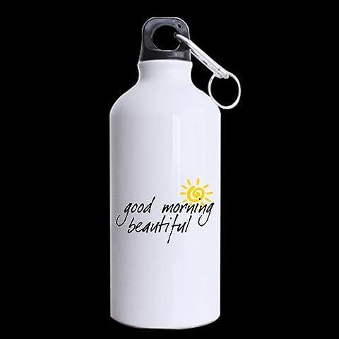 Divertido Buenos días hermoso tema de felicitación amante de regalo de amante–100% Super resistente material reciclado de aluminio Deportes botellas de agua–13.5oz