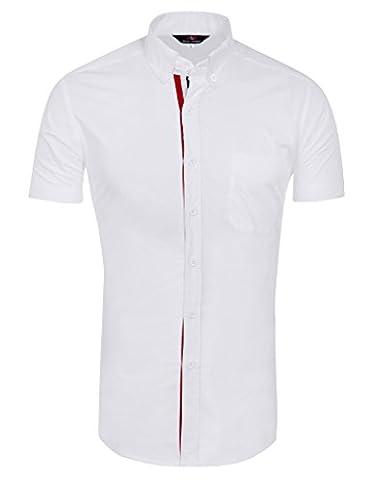 Stylish Dress Shirts for Men Cotton Blend Leisure PJ5542D-3 L