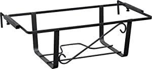 """Fioriera rettangolare per balcone in ferro battuto Regolabile â€"""" misura: 56 cm"""