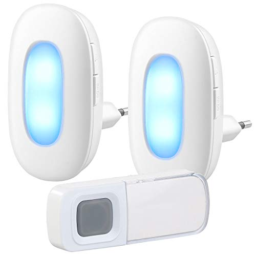 g: Steckdosen-Funk-Klingel mit optischem Signal & zweitem Empfänger, IP54 (Funkklingel für Gehörlose) ()