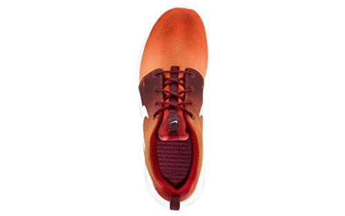 Nike Herren Roshe One Print Laufschuhe Orange/Rot/weiß
