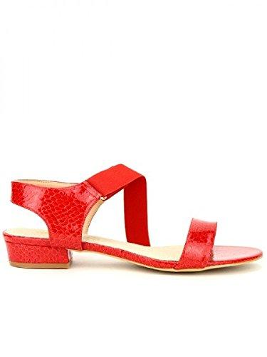 Cendriyon, Sandale rouge OMODA MODE Chaussures Femme Rouge