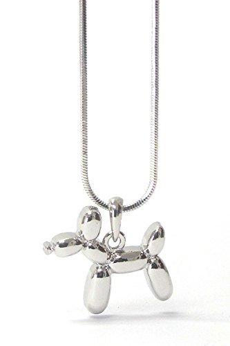 Ballon Hund Anhänger Halskette mit Geschenk-Box ()