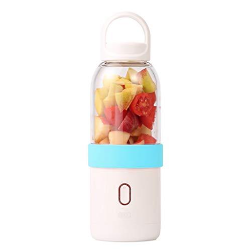 Calvinbi Haushalt 500ML 6-Blatt ragbarer Entsafter Mixer Fruchtsaftpresse Smoothie Maschine USD Wird aufgeladen Saftschale Reisebecher