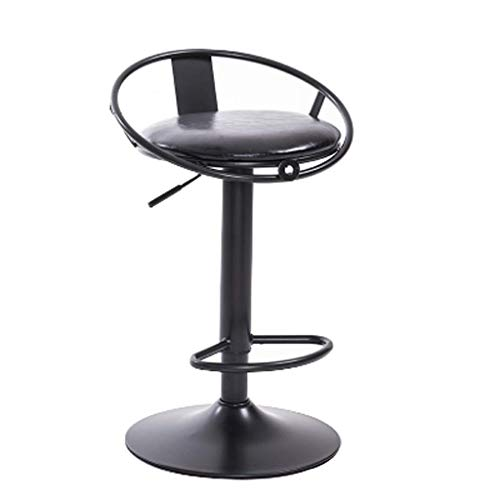 YJLGRYF Drehbarer Esszimmerstuhl, Runder Barstuhl, PU-Leder-Frühstückshocker, Home Lounge Chair, Höhenverstellbarer Sessel, Edelstahlrahmen, for Küche, Restaurant, Café, Bar (38,5 x 38,5 x 90 cm) Wohn -