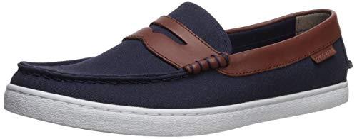 Cole Haan Herren Nantucket Loafer Sneaker, Blau Blazer Blue Textile/Chestnut Leather, 43 EU -