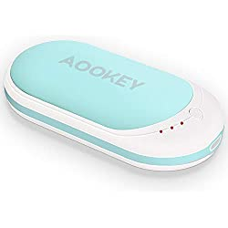 AOOKEY Chauffe-Mains 5200mAh Batterie Chaufferette Main Électrique USB Rechargeable Powerbank …