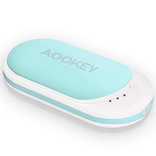 AOOKEY Chauffe-Mains 5200mAh Batterie Chaufferette Main Électrique USB Rechargeable Powerbank