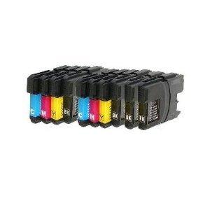 Preisvergleich Produktbild 10 XL Patronen kompatibel zu  LC 985 LC 39 Sparset (4x schwarz & je 2x cyan magenta yellow)