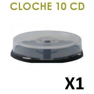 Cloche vide (cakebox) pour 10 CD/DVD