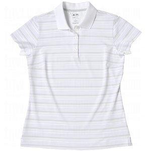 adidas Taylormade Damen Climacool basierend Stripe Polo Shirt, jasmineshadow XL White/Jasmine/Shadow - Shadow Stripe Shirt