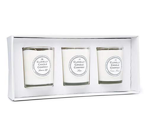 The Clovelly Soap Co. Duftkerze mit Zitrus | 40 Stunden Duft | Im Vereinigten Königreich mit 100% Naturprodukten handgefertigt| Innenkerzen und Kerzen für Zuhause - Zitrus Duftkerze