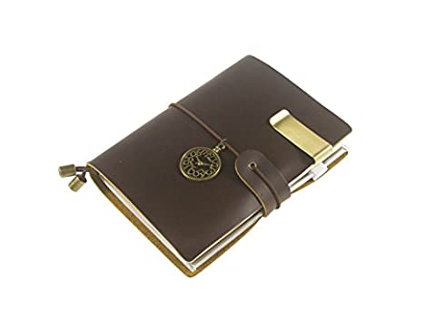 UNIQUE HM&LN Genuine Leather Planner Organizer - Academic Monthly & Daily - Refillable & Handmade - Gratitude Journal - Passion & Happiness 2017