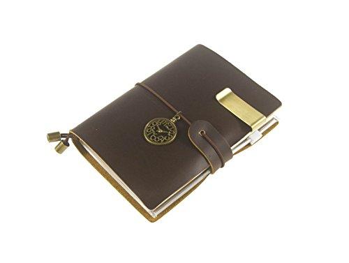 UNIQUE HM&LN Véritable Journal en cuir Classique Carnet Planificateur organisateur – Academic mensuel & quotidiennes - Rechargeable, 100% fait à la main 2018
