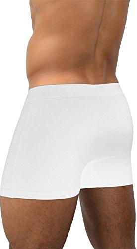 6 x normani® Boxer schwarz/weiss/grau/blau Boxershorts Unterhose NEU 95% Baumwolle Basic Style Weiß
