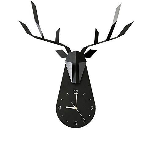 GWF Nordic Hirsch Uhr kreative Wanduhr Wohnzimmer Persönlichkeit Mode Uhr Wohnzimmer Hause Uhr...