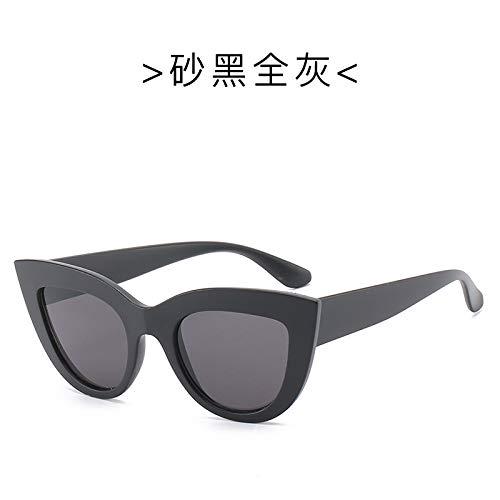 Yangjing-hl Europa und die vereinigten Staaten Trend Big Box cat Eye Sonnenbrille Mode Sonnenbrille Sonnenbrille Sand schwarz/grau tabletten