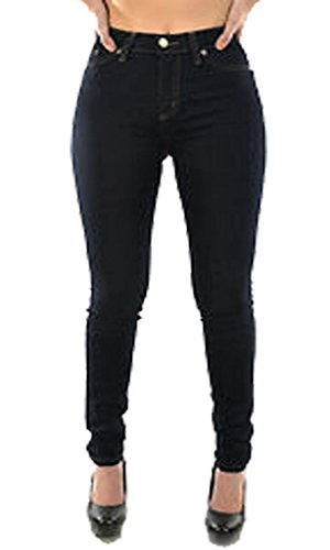 New Ladies Womens Girls Super Stretchy Jegging Jeans DENIM BLACK UK SIZE XL/14