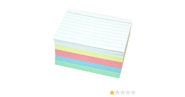 500, DIN A7 sortiert 500 Karteikarten DIN A7 in 5 Farben zweiseitig liniert
