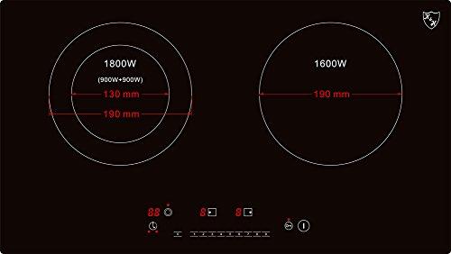 K&H® Doppel Glaskeramikkochfeld HC-N-3402
