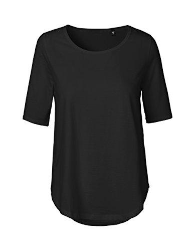 -Green Cat- Damen Halbarm T-shirt, 100% Bio-Baumwolle. Fairtrade, Oeko-Tex und Ecolabel zertifiziert, Textilfarbe: schwarz, Gr.: XL (100% T-shirt Jersey Baumwolle)