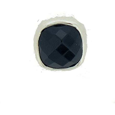 TF quattro niimi Onyx-ganci con onice sfaccettato, Sterling-Silber 925 - Sfaccettato Onyx Pendente