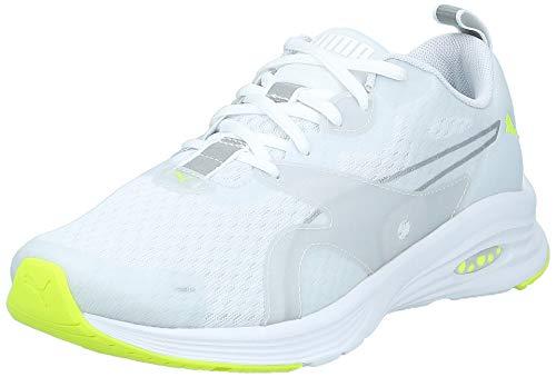 PUMA Hybrid Fuego Lights, Zapatillas de Running para Hombre, White-Yellow Alert, 40 EU