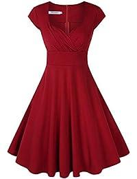 Suchergebnis Auf Amazon De Fur Kleid Bordeaux Knielang Kleider