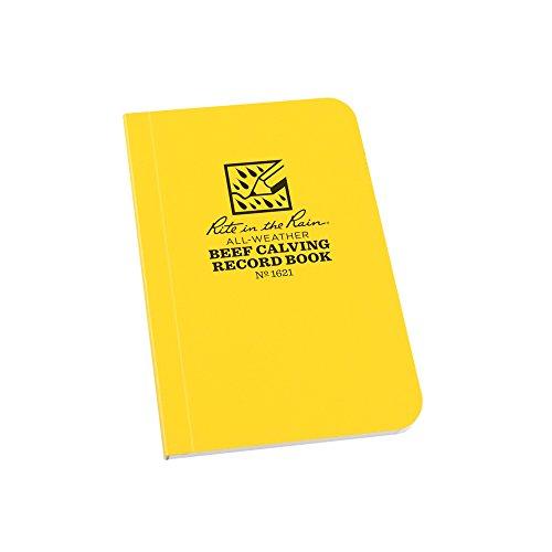 Rite in the Rain Allwetter Rindfleisch Entbinden von Kälbern Record Notebook, 7,6cm X 45/20,3cm gelb (Nr. 1621)