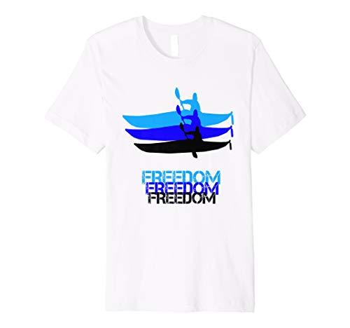 Kajak T-shirt, Freiheit / Freedom (Kajak-t-shirts)
